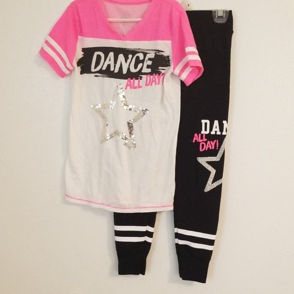 Justice Other - Justice Active Dance 2 piece set Size 8